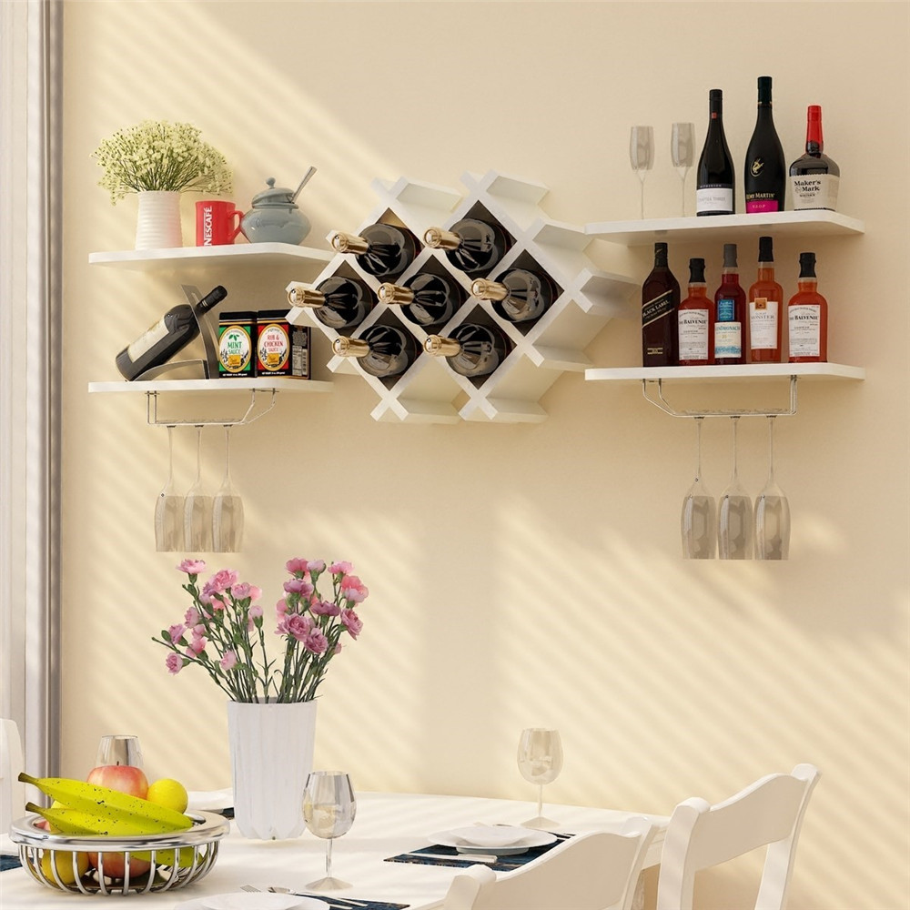 firm wooden wine shelf