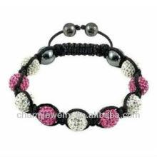 Venda Por Atacado shamballa pulseira de cristal grânulos de argila Original shamballa pulseira BRS-0011