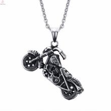 Pendentif en acier inoxydable de moto de style de punk de bijoux de conception faite sur commande pour les hommes