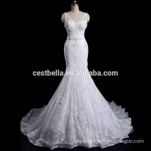 Customized Top Quality Embroidery Lace Mermaid Wedding Gown
