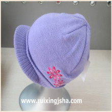 Acrylic knitted peak cap for kids