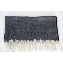 melange light grey cashmere scarf