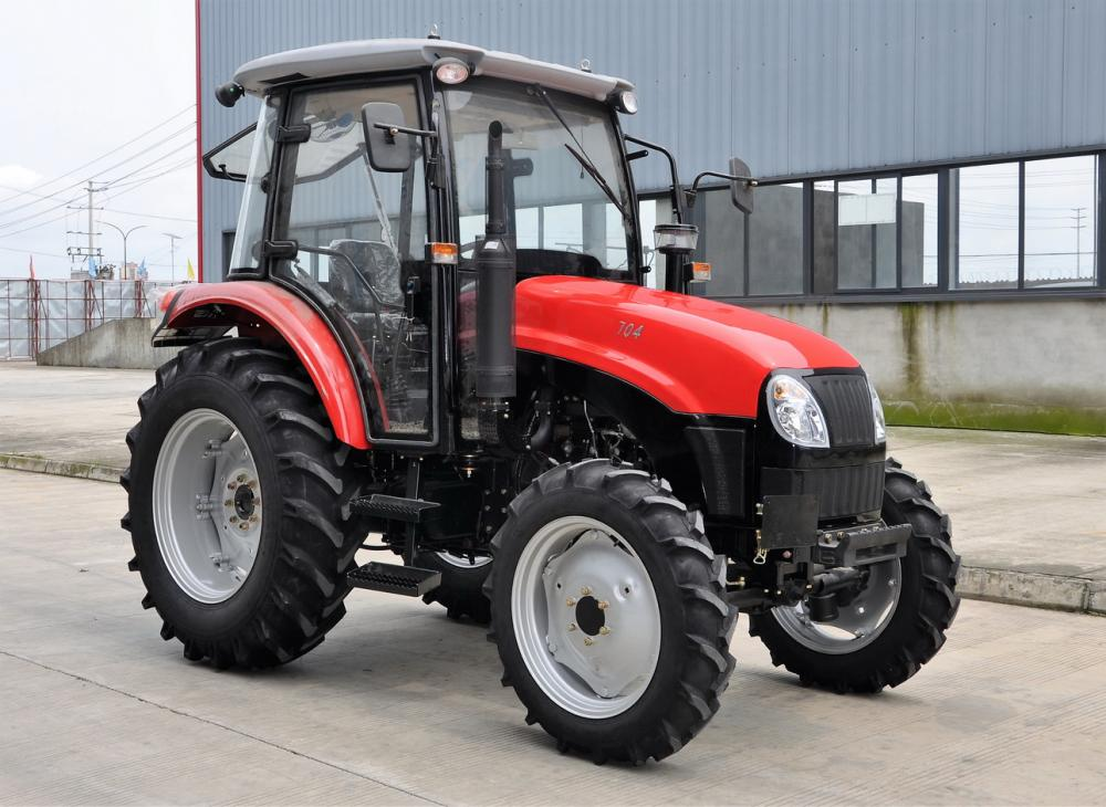 Direct Injection 4wd 70HP Wheeled Farm Tractor