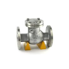 Válvula de retenção horizontal verticais água abertura total do balanço flangeada de aço inoxidável