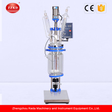 5l 50l 100l Lab Double Layer Glass Reactor