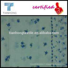 haute qualité coton dobby dot avec fleur impression tissu léger digne des robe chemise