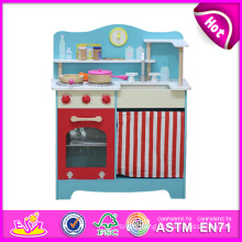 Latest Pretend Play Kitchen Toy Set for Kids, Top New Kitchen Toys for Children, Wooden Toy Role Play Toy Kitchen for Sale W10c099