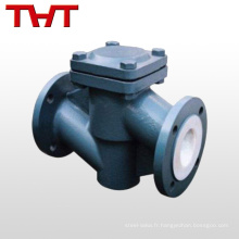 A105n grade alimentaire 200mm pvc tuyau vérifier types de soupape / non retour valve pvc