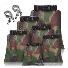 Custom LOGO Outdoor Hiking Camping Waterproof Backpack Dry Bag With Adjustable Shoulder Strap