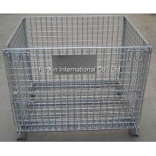 Gaiola de armazenamento dobrável e empilhável / Recipiente de malha de arame galvanizado