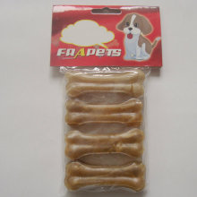 "Pet Food 3"" Natural Rawhide Pressed Bone Dog Chew"