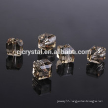 Machine Cut Crystal Square Beads
