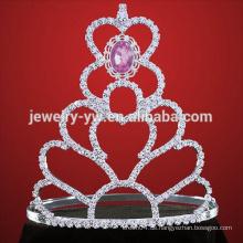 Hochzeit Tiara Silber Festzug Tiara Krone für Frauen