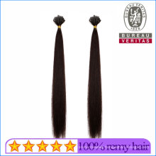 Silk Straight Natural Long 16inch Remy Human Virgin Hair Extension V Tip Hair