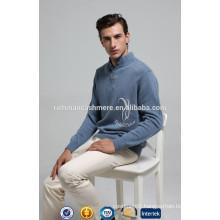 Polo Neck Men's Mongolian Cashmere Sweater