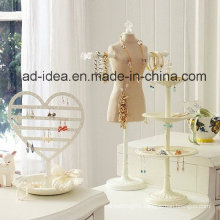 White Jewelry Display Stand/ Exhibition for Earring, Necklack etc
