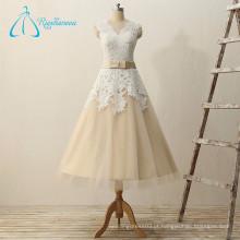 2017 Lace Appliques Bow Button Princess Wedding Dress