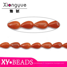 Pierres précieuses de couleur corail Semi naturel Perles précieuses baisse