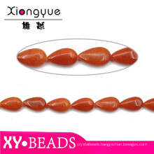 Coral Color Gemstones Natural Semi Precious Beads In Drop