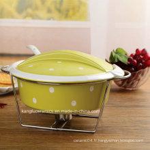 Ustensiles de cuisson antiadhésifs glacés de couleur à prix bas (ensemble)