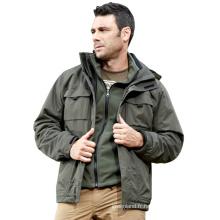 Veste coupe-vent d'hiver pour hommes personnalisés en usine en gros