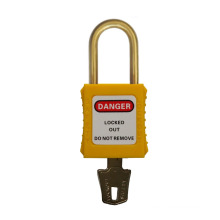short shackle 38mm NYLON SAFETY PADLOCK