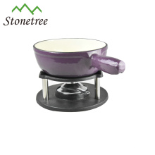Fondue-Sets aus Gusseisen-Emaille