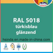 Цвет RAL Цвет RAL 5018 Бирюзово-Синий Порошковое Покрытие