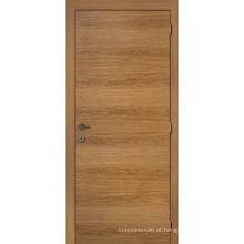 Porta de entrada folheada de madeira rústica do projeto quente, portas exteriores niveladas