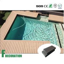 Decking composto plástico de madeira do revestimento exterior de WPC para a piscina