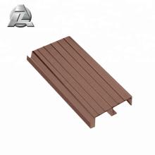 profil de platelage de ponton en aluminium de couleur bois