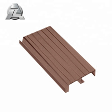 wood color aluminum pontoon decking profile