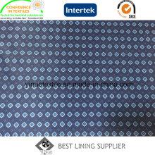 Tissu 100% d'impression de sergé de polyester de 260% pour la doublure de veste de costume des hommes