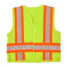 Workwear Class 2 Tricot 2-Tone Reflective Hi-Vis Traffic Safety Vest