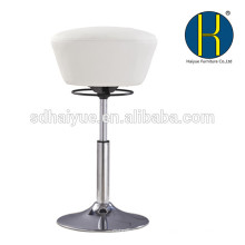 HY5005 Foshan Haiyue Modern and Best Selling White Vinyl Office Round Seat Stool