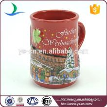 YScc0003-01 Замок и рождественские елки шаблон Рождественский суп Кружка для детей