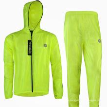 Sportswear Waterproof Rainwear Rain Poncho Coat Pant Suit