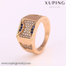 12283-Xuping Bague de bijoux en gros des hommes modernes bleu