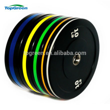 manufacturer colored gym competition bumper plate rubber