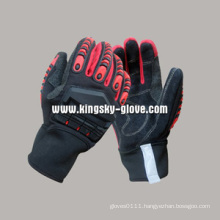 Cow Split Leather High Impact Protective TPR Glove--7306