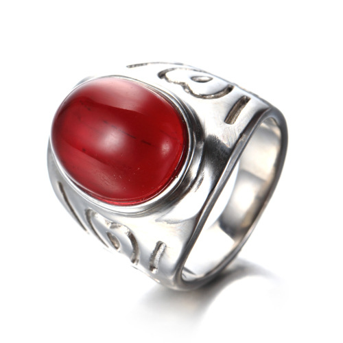 men agate ring