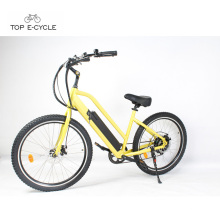 Chopper bicicleta motor elétrico start electric beach cruiser bike