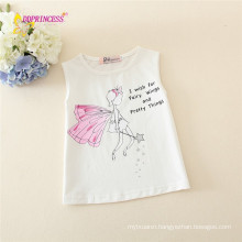 good quality children vest top wear printing lovely fairy kid knit vest for girls on sales