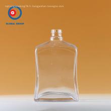 Bouteille à vin carrée en verre 750 ml