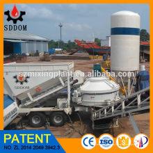 10 - 45m3 / h Мобильная бетоносмесительная установка Готовый бетонный завод для Alibaba Hot Sale