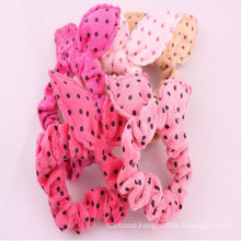 Small Polkadot Pattern Flannel Hairband (HEAD-84)