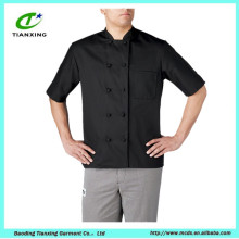 Изготовленная на заказ короткая-рукав шеф-повар куртка