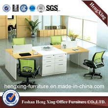 Green Color 45mm Thickness Three Seats Office Partition (HX-NJ5192)