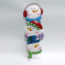Merry Christmas Snow Head Garden Stake
