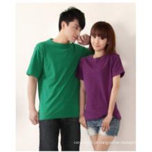 Camisa de algodão personalizada, T-shirt CVC Spandex